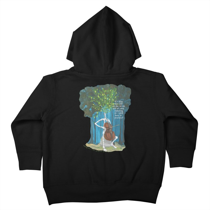 cello practice Kids Toddler Zip-Up Hoody by Family Tree Artist Shop