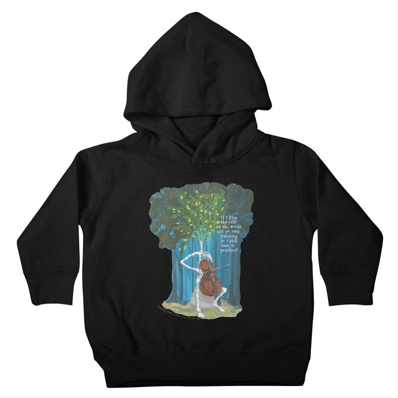 cello practice Kids Toddler Pullover Hoody by Family Tree Artist Shop