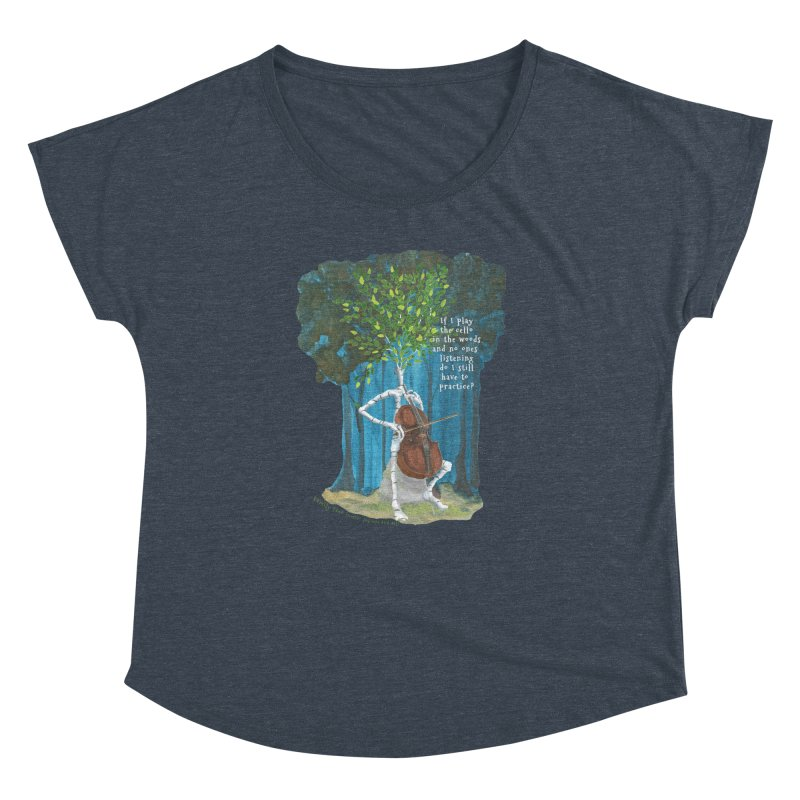 cello practice Women's Dolman Scoop Neck by Family Tree Artist Shop