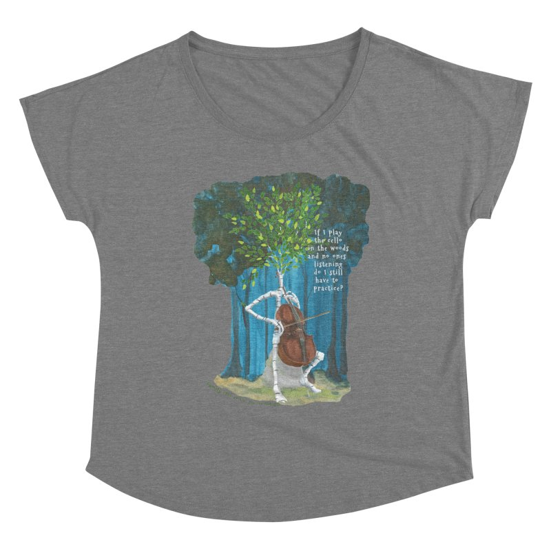 cello practice Women's Scoop Neck by Family Tree Artist Shop