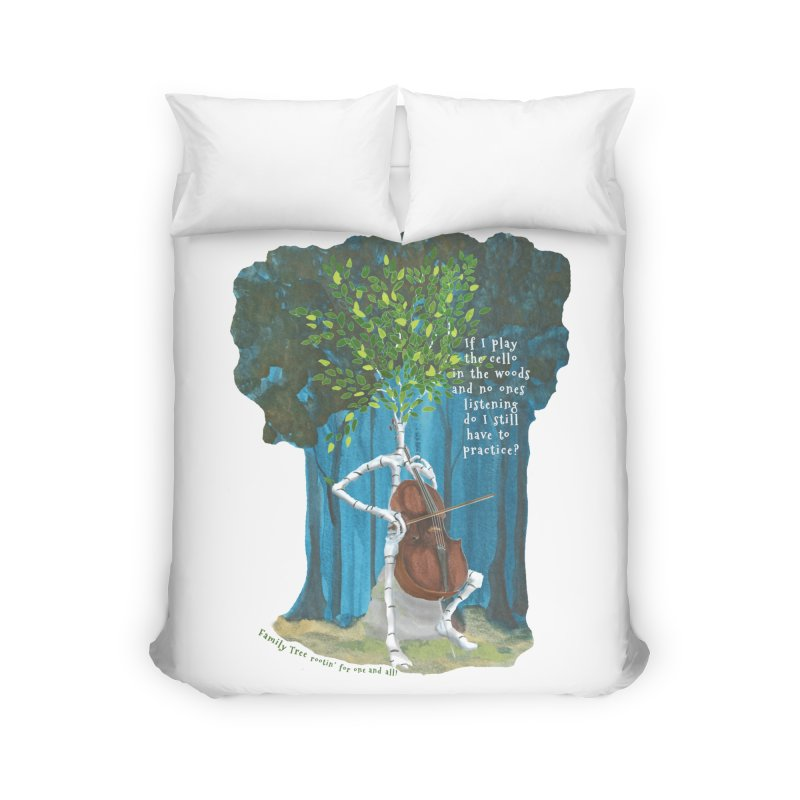 cello practice Home Duvet by Family Tree Artist Shop