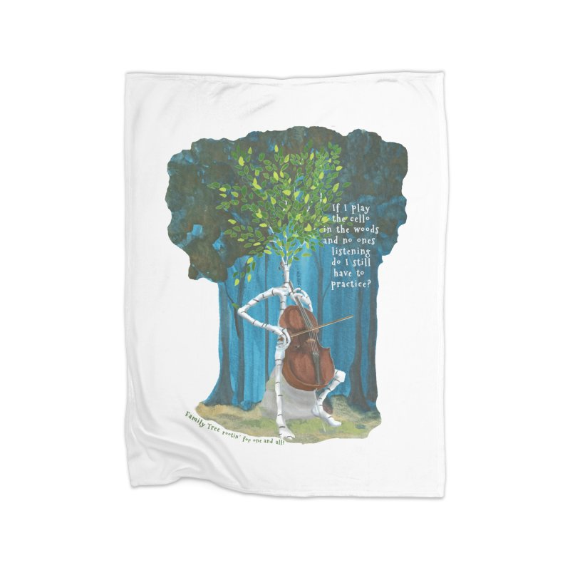 cello practice Home Fleece Blanket Blanket by Family Tree Artist Shop