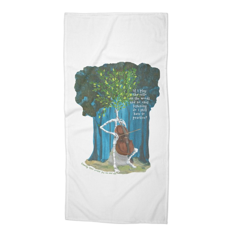 cello practice Accessories Beach Towel by Family Tree Artist Shop