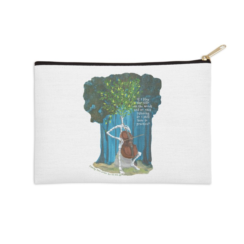 cello practice Accessories Zip Pouch by Family Tree Artist Shop
