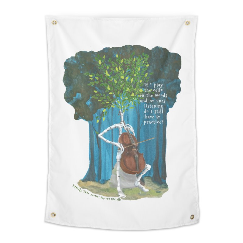 cello practice Home Tapestry by Family Tree Artist Shop