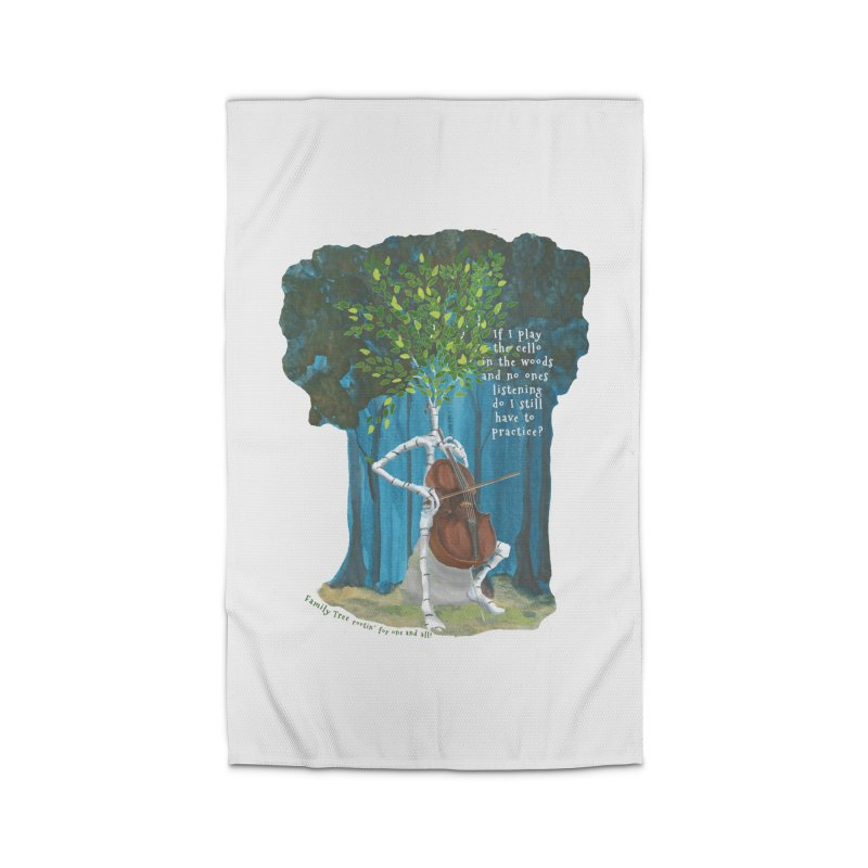 cello practice Home Rug by Family Tree Artist Shop