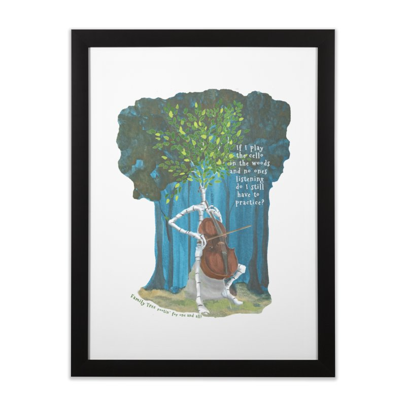 cello practice Home Framed Fine Art Print by Family Tree Artist Shop