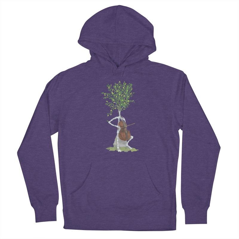 cello Women's French Terry Pullover Hoody by Family Tree Artist Shop