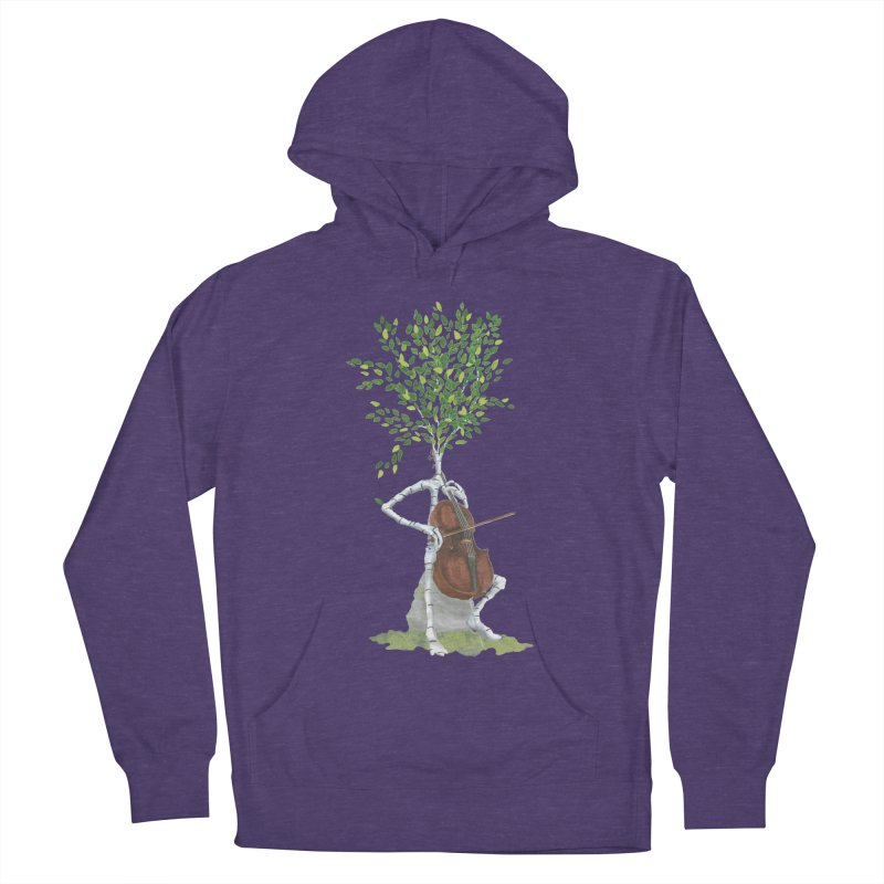 cello Men's French Terry Pullover Hoody by Family Tree Artist Shop