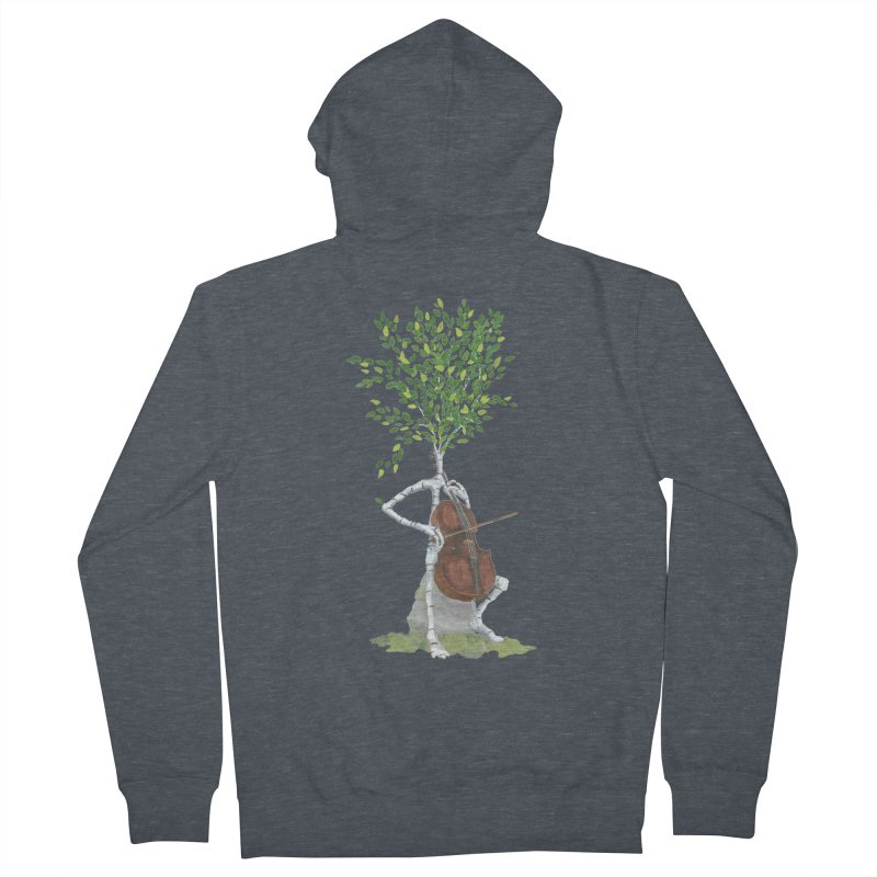 cello Women's Zip-Up Hoody by Family Tree Artist Shop