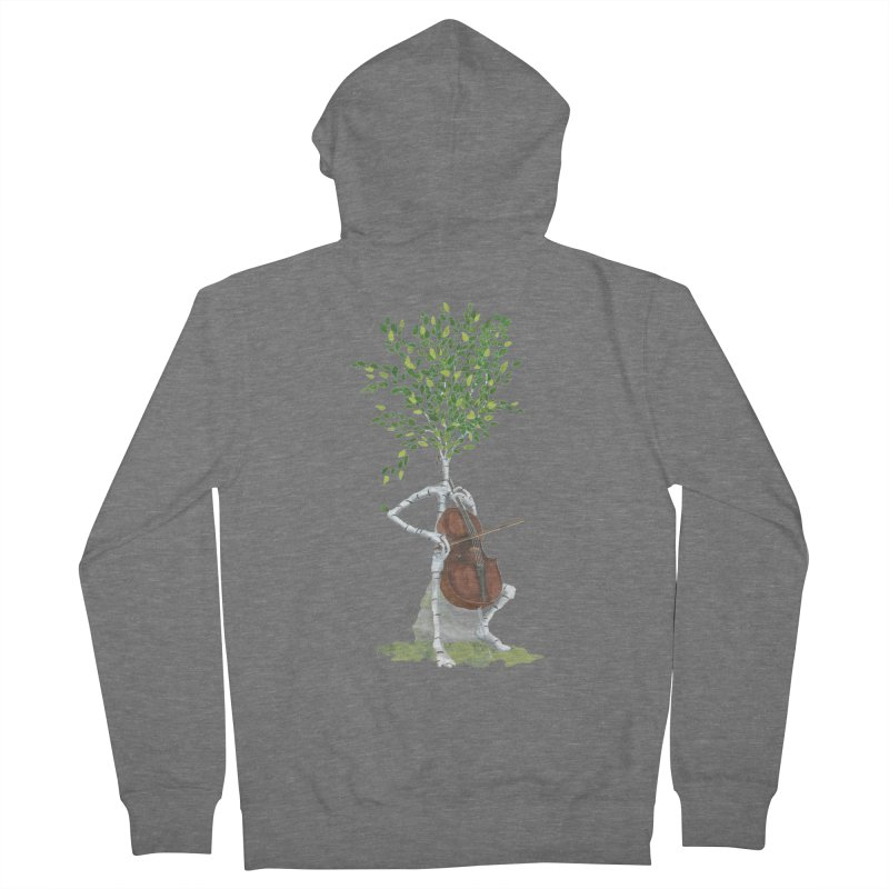 cello Men's Zip-Up Hoody by Family Tree Artist Shop
