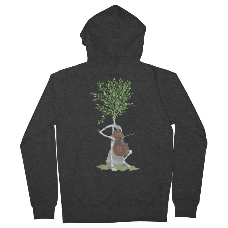 cello Men's French Terry Zip-Up Hoody by Family Tree Artist Shop