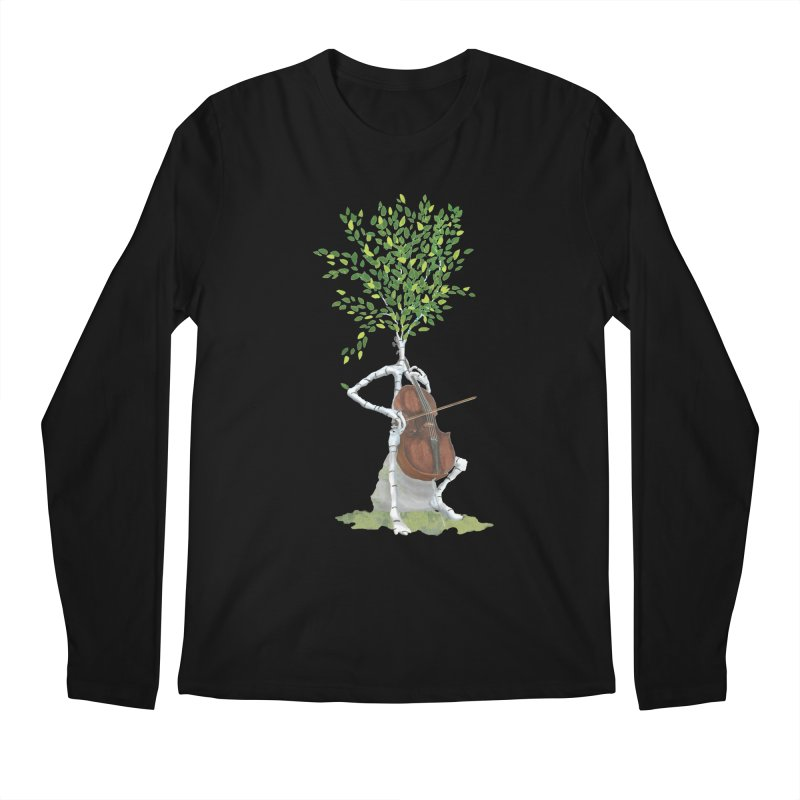 cello Men's Longsleeve T-Shirt by Family Tree Artist Shop