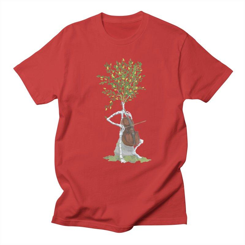 cello Men's Regular T-Shirt by Family Tree Artist Shop