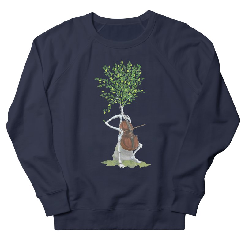 cello Women's French Terry Sweatshirt by Family Tree Artist Shop