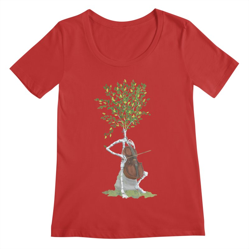 cello Women's Regular Scoop Neck by Family Tree Artist Shop