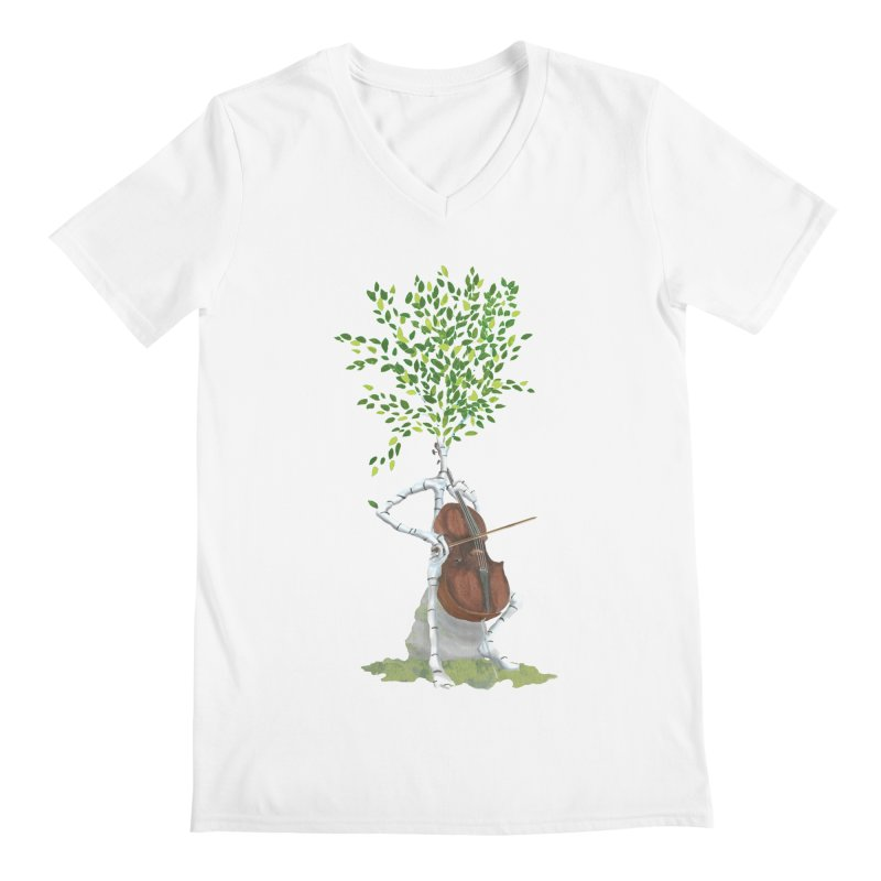 cello Men's V-Neck by Family Tree Artist Shop