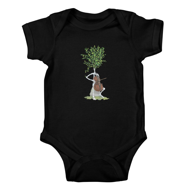 cello Kids Baby Bodysuit by Family Tree Artist Shop