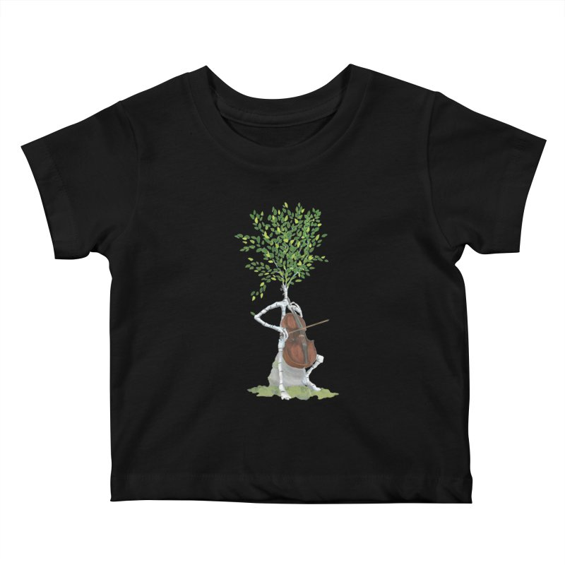 cello Kids Baby T-Shirt by Family Tree Artist Shop