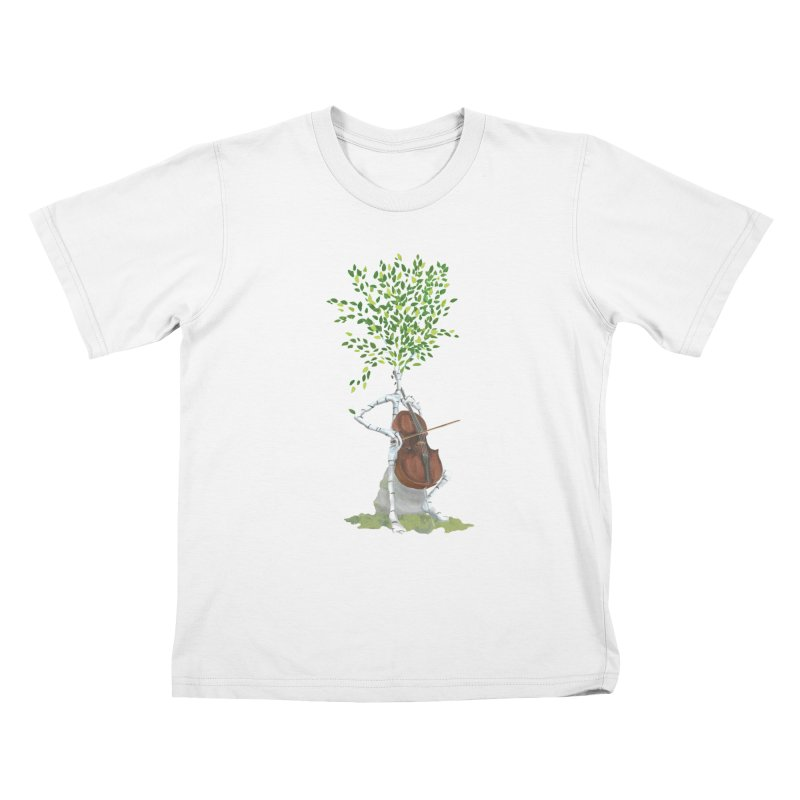 cello Kids T-Shirt by Family Tree Artist Shop