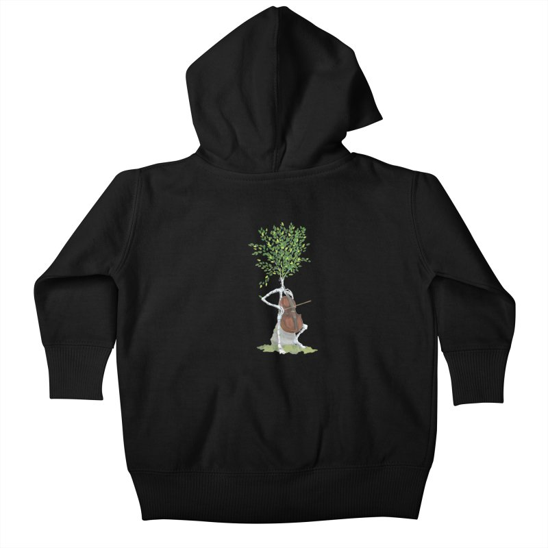 cello Kids Baby Zip-Up Hoody by Family Tree Artist Shop