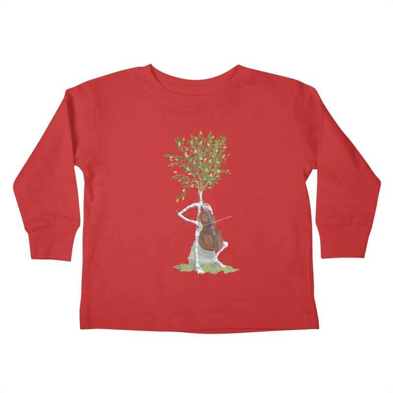cello Kids Toddler Longsleeve T-Shirt by Family Tree Artist Shop