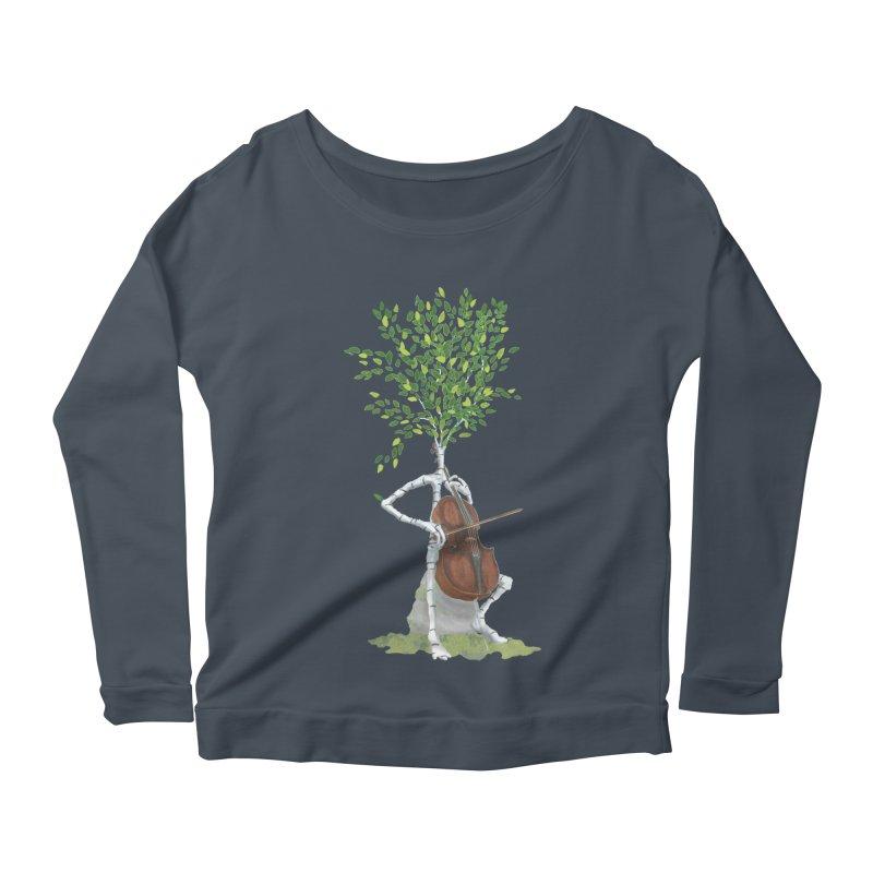 cello Women's Scoop Neck Longsleeve T-Shirt by Family Tree Artist Shop