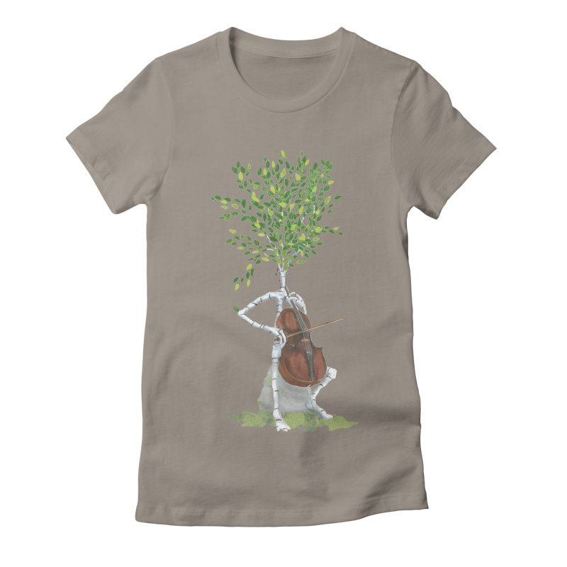 cello Women's Fitted T-Shirt by Family Tree Artist Shop