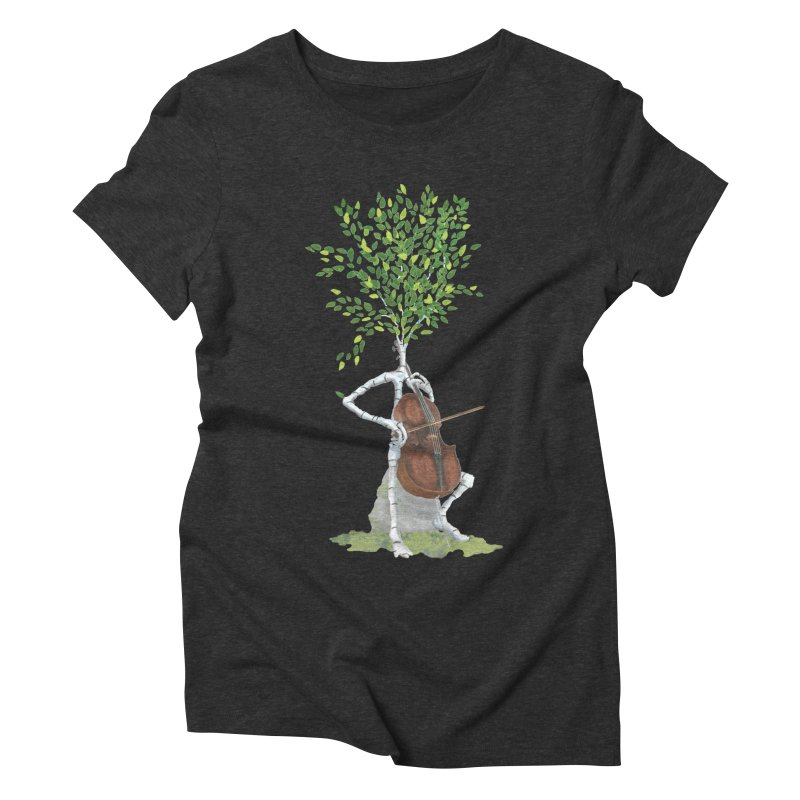 cello Women's Triblend T-Shirt by Family Tree Artist Shop