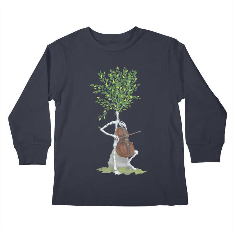 cello Kids Longsleeve T-Shirt by Family Tree Artist Shop