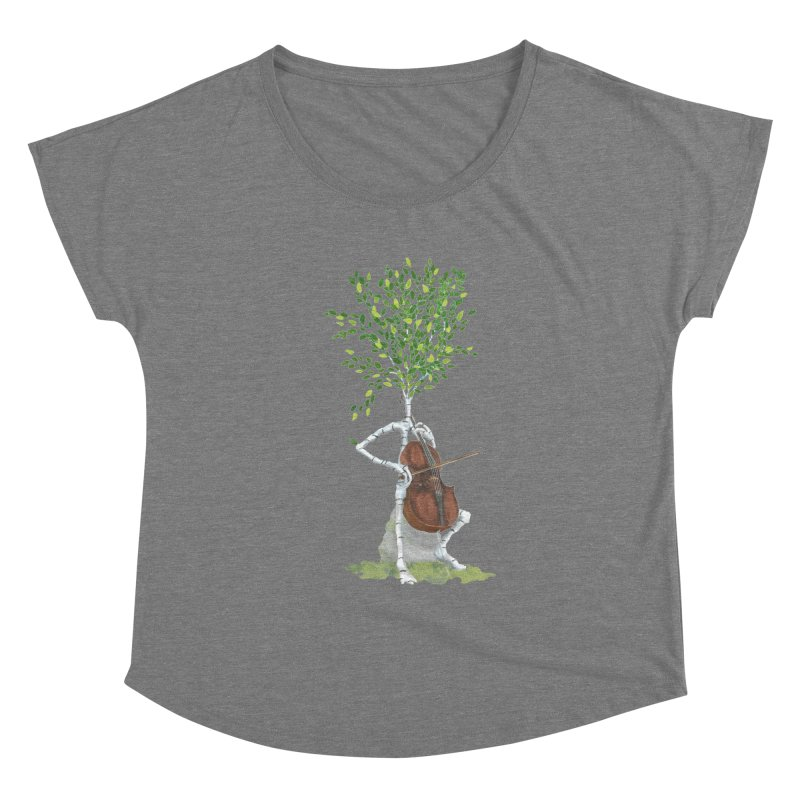 cello Women's Scoop Neck by Family Tree Artist Shop