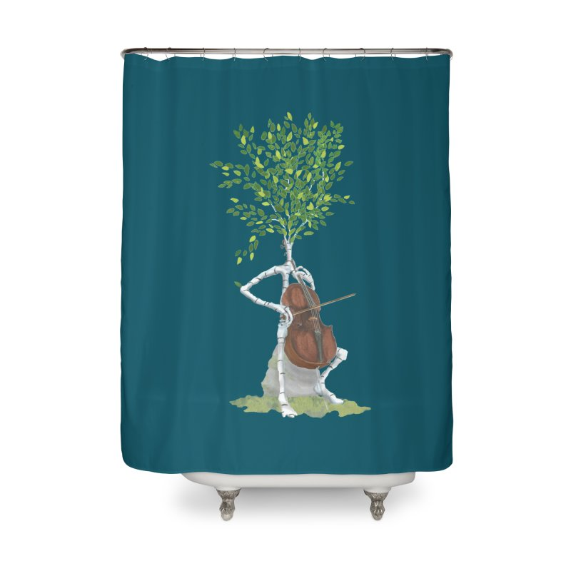 cello Home Shower Curtain by Family Tree Artist Shop