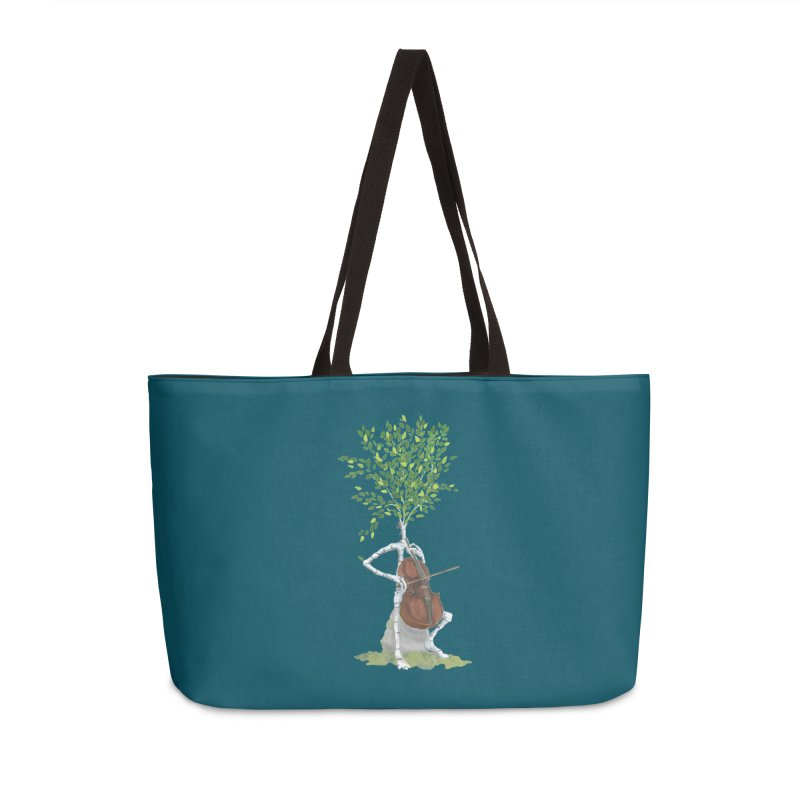 cello Accessories Weekender Bag Bag by Family Tree Artist Shop