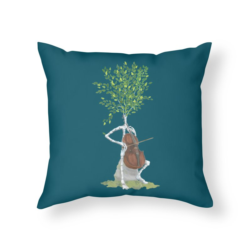 cello Home Throw Pillow by Family Tree Artist Shop
