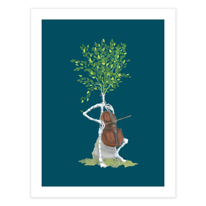 cello Home Fine Art Print by Family Tree Artist Shop