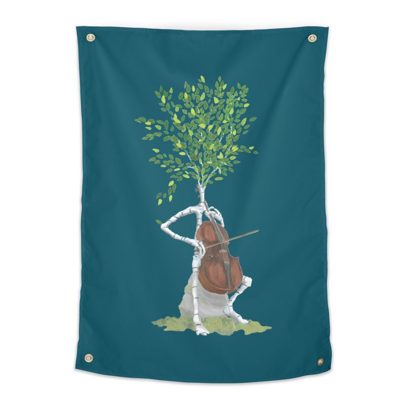 cello Home Tapestry by Family Tree Artist Shop