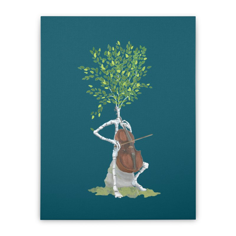 cello Home Stretched Canvas by Family Tree Artist Shop