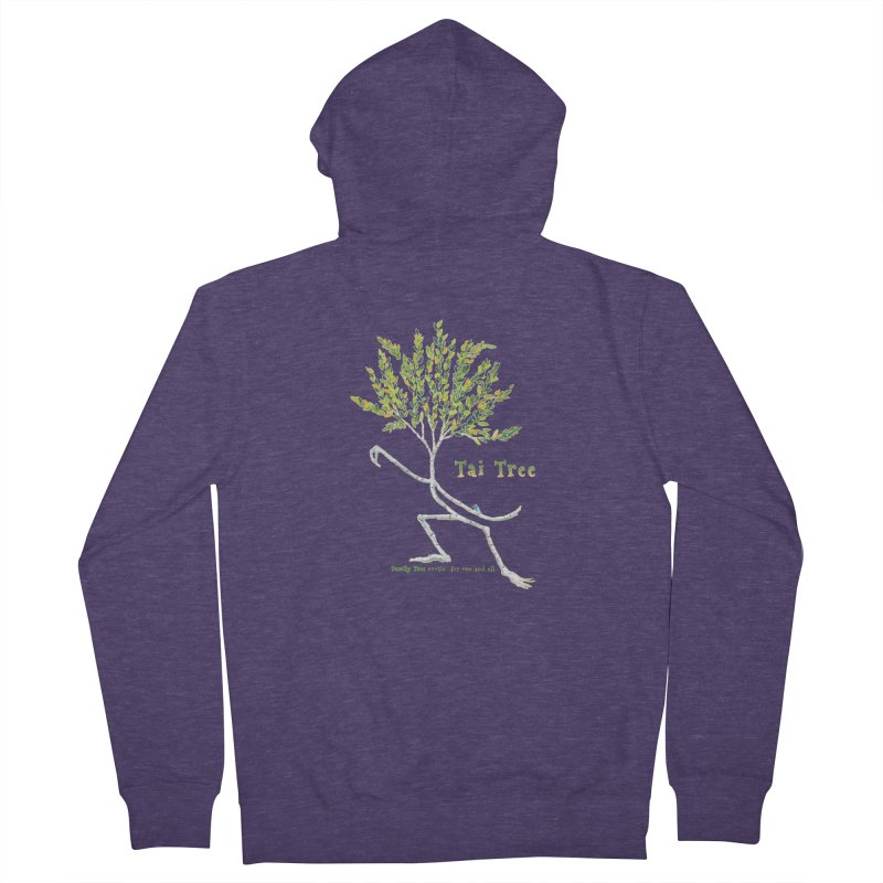 Tai Tree Men's French Terry Zip-Up Hoody by Family Tree Artist Shop