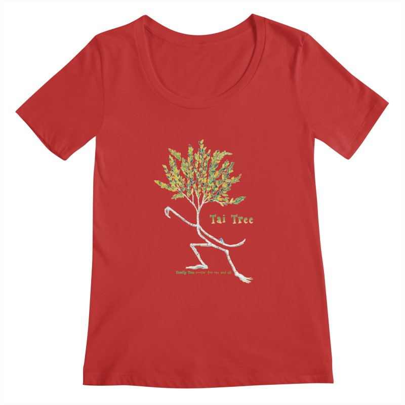 Tai Tree Women's Regular Scoop Neck by Family Tree Artist Shop