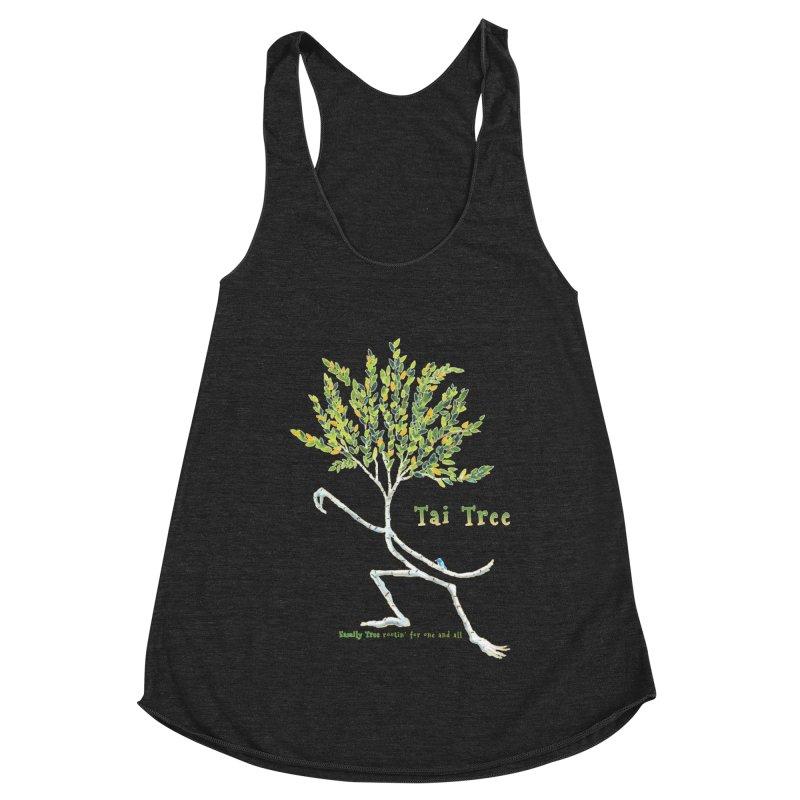Tai Tree Women's Racerback Triblend Tank by Family Tree Artist Shop