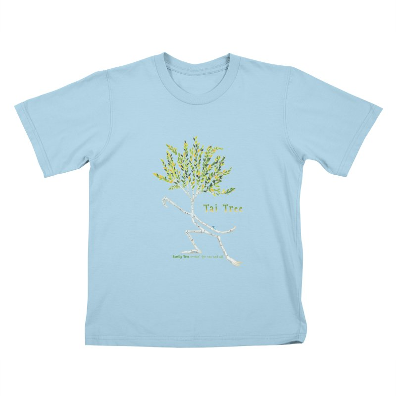 Tai Tree Kids T-Shirt by Family Tree Artist Shop