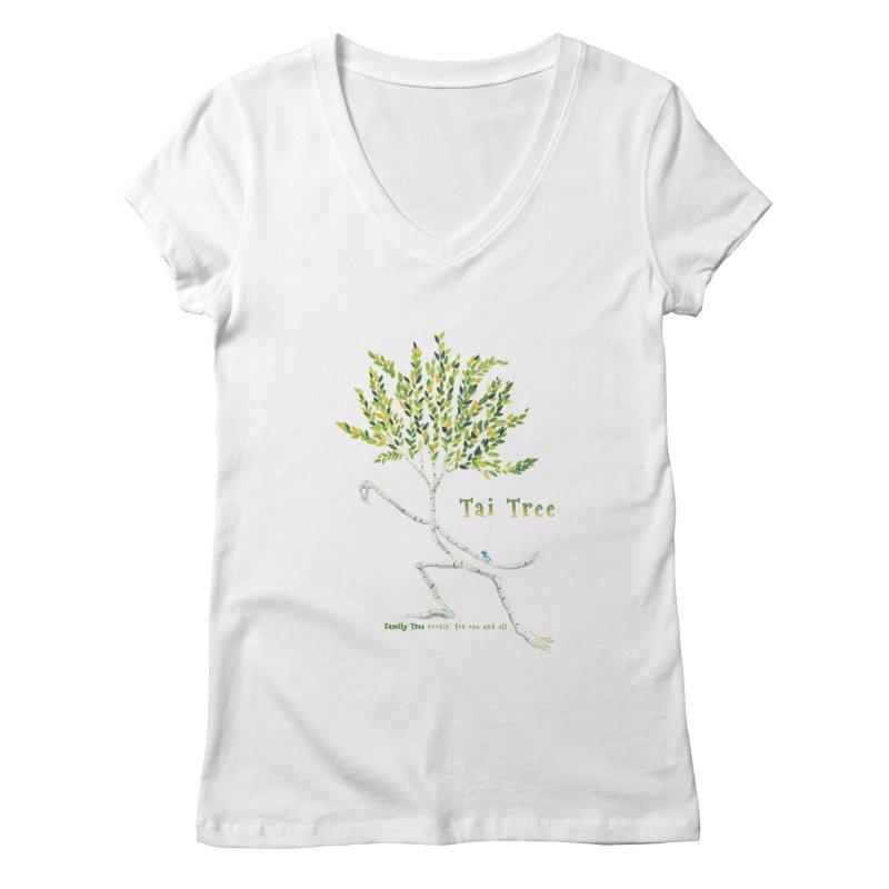 Tai Tree Women's Regular V-Neck by Family Tree Artist Shop