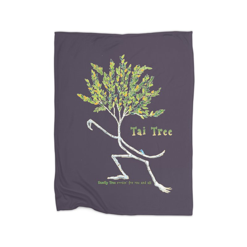 Tai Tree Home Fleece Blanket Blanket by Family Tree Artist Shop