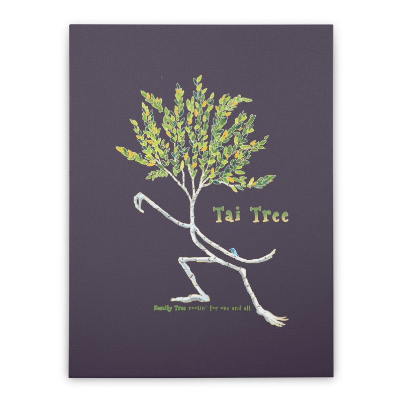 Tai Tree Home Stretched Canvas by Family Tree Artist Shop