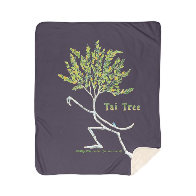 Tai Tree Home Sherpa Blanket Blanket by Family Tree Artist Shop