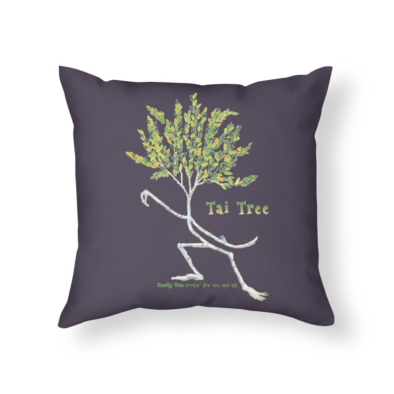 Tai Tree Home Throw Pillow by Family Tree Artist Shop
