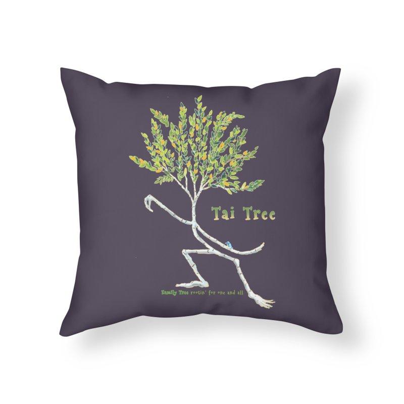 Tai Tree Home Throw Pillow by Family Tree Artist Shop