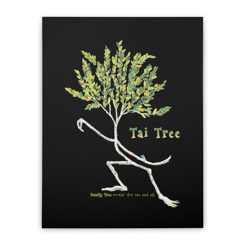 Tai Tree sprig Home Stretched Canvas by Family Tree Artist Shop