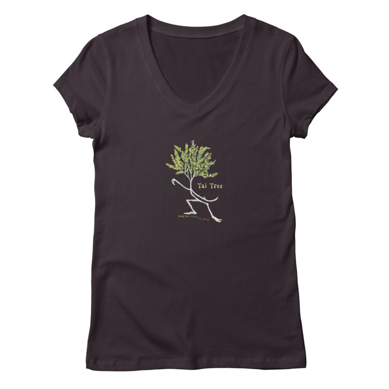 Tai Tree sprig Women's V-Neck by Family Tree Artist Shop