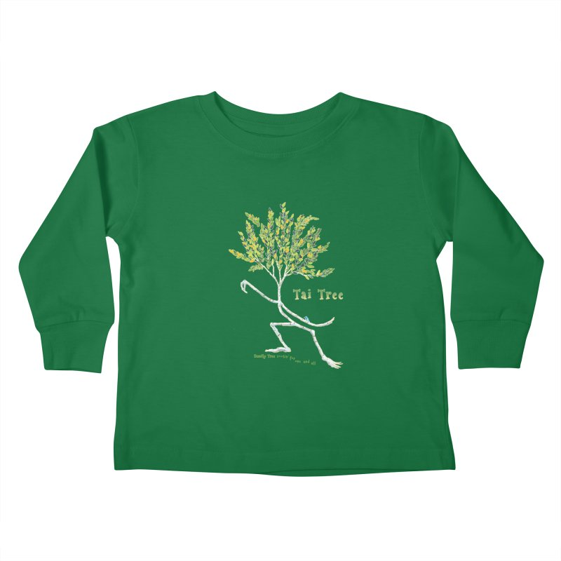 Tai Tree sprig Kids Toddler Longsleeve T-Shirt by Family Tree Artist Shop